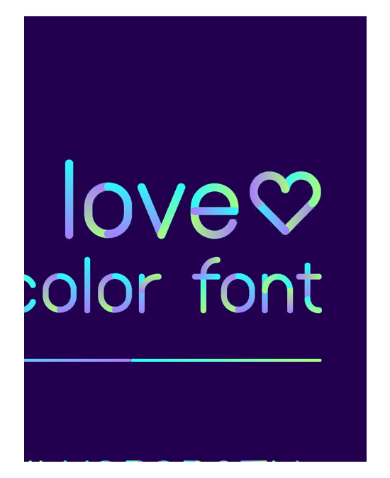the NEON love font